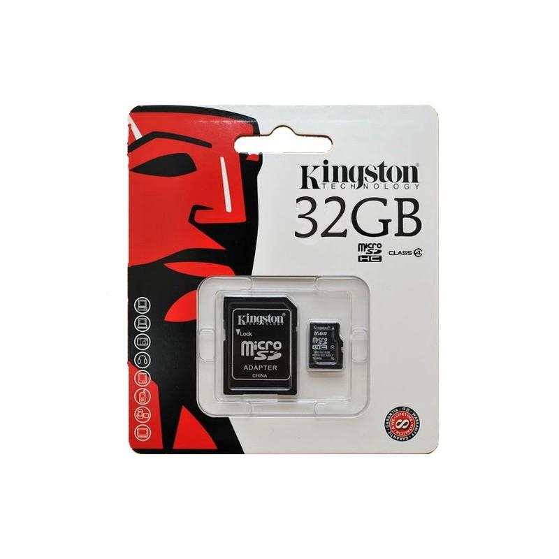 Kingston - Tarjeta MicroSD Clase 10 de 32GB